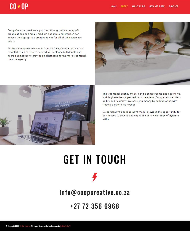 CO-OP CREATIVE Web Design - lightlyfunky™ - Website Portfolio