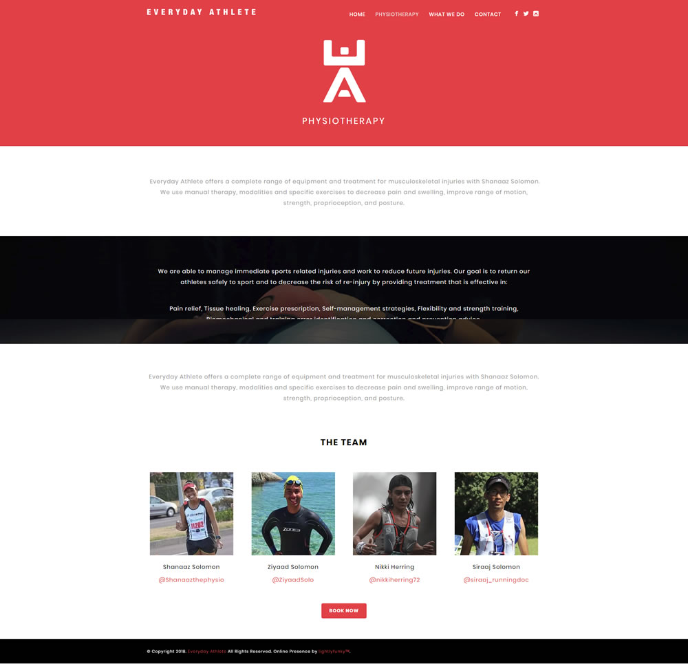 Everyday Athlete Web Design - lightlyfunky™ - Website Portfolio