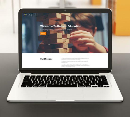 Web Design Holistic Education