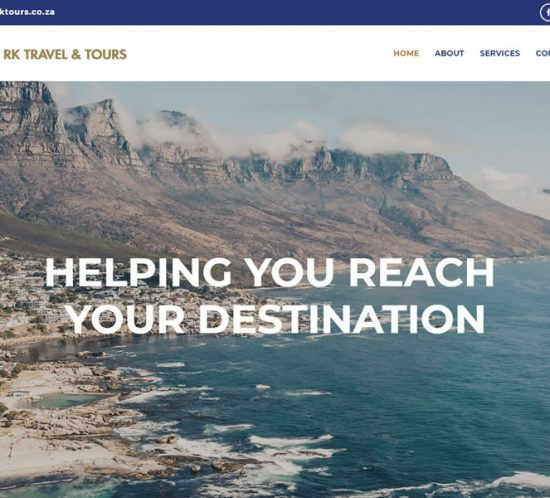 RK Tours one page website